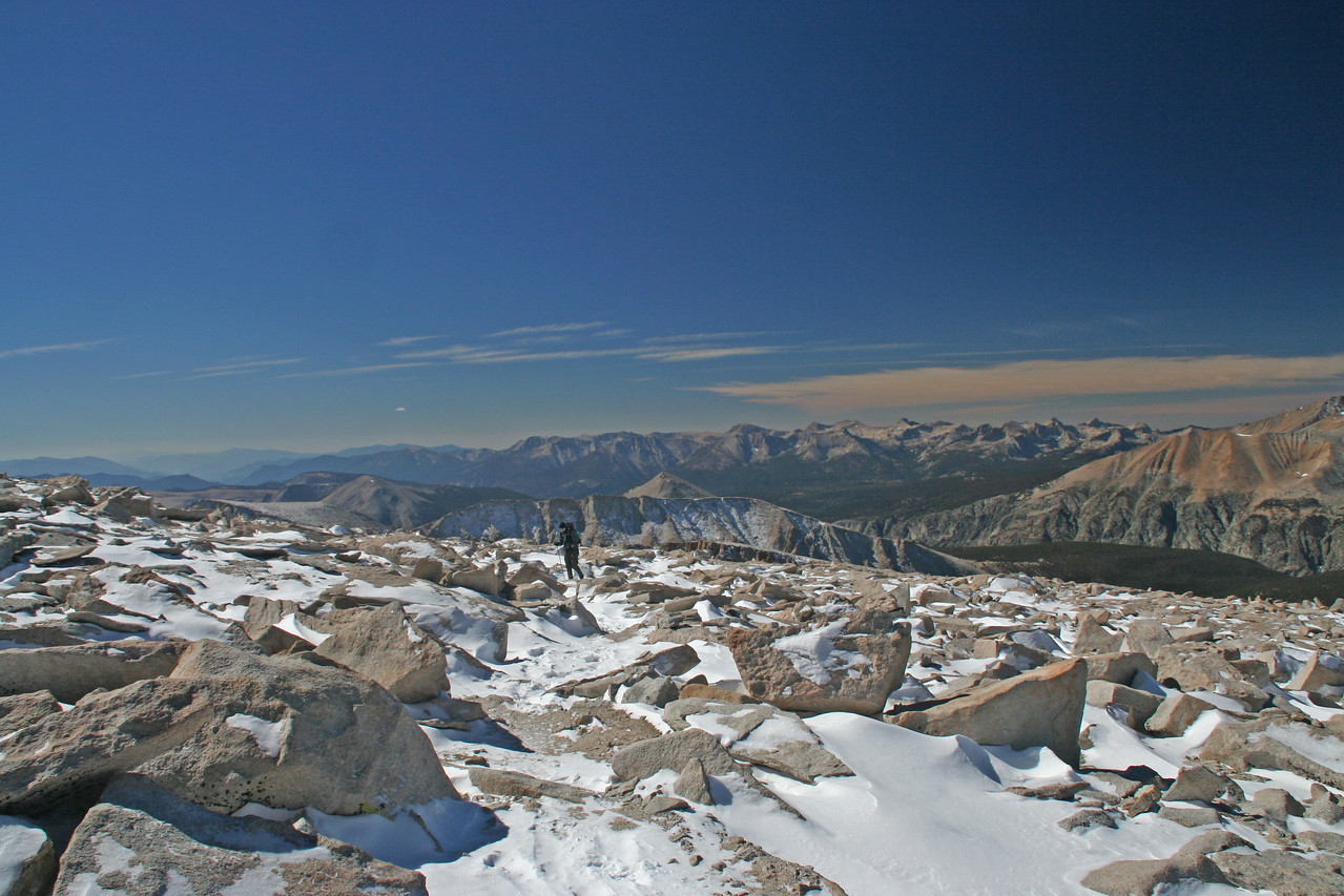Chris on the final leg of the journey to the top of Mt. Whitney.