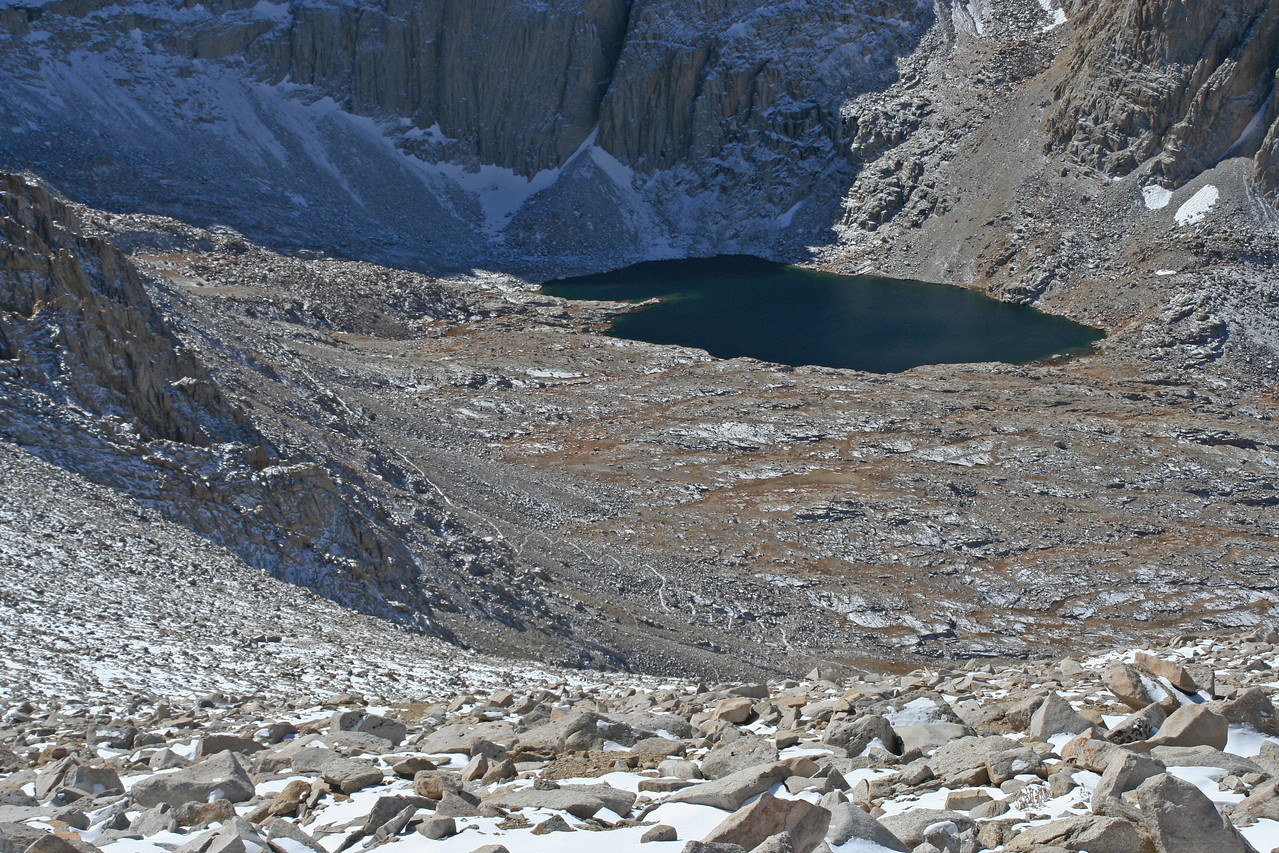 The switchbacks of the John Muir Trail.