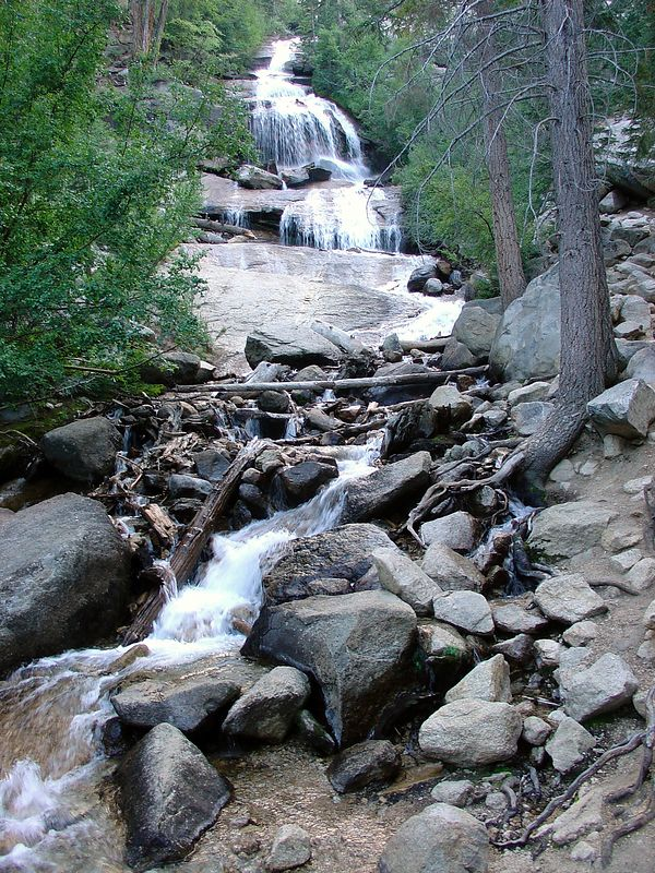 Lone Pine Creek waterfall at Whitney Portal.