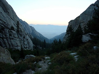 Looking down the North Fork of Lone PIne Creek trail.