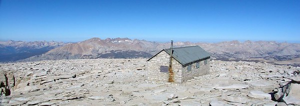 The summit hut.
