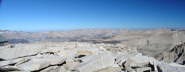 The view to the northwest from the summit of Mt. Whitney.