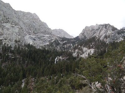 Lone Pine Creek.  Thor Peak at right.