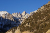 Looking up the North Fork of Lone Pine Creek to Mt. Whitney.
