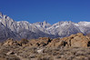 The Sierra crest from the Alabama Hills.<br /> <br /> I was wildflower hunting at this point.