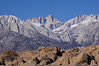 Mt. Whitney and the Needles from the Alabama Hills.