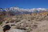 The Sierra crest from the Alabama Hills.