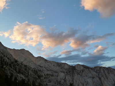 The ridge up to Gamblers Special Peak at sunset.
