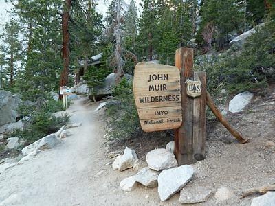 Entering the John Muir Wilderness.  7:21pm.