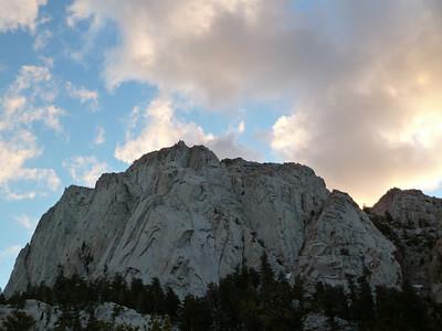 Thor Peak at sunset.
