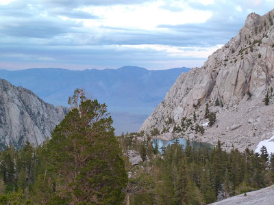 Lone Pine Lake from the slabs shortcut to Bighorn Park.