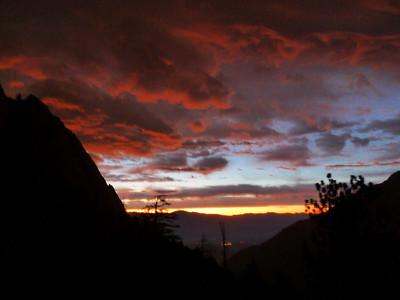 Sunrise on Friday morning.