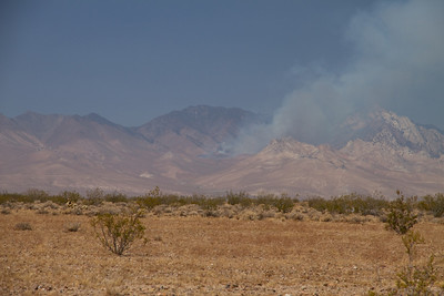 Fire up in the Owens Peak Wilderness.