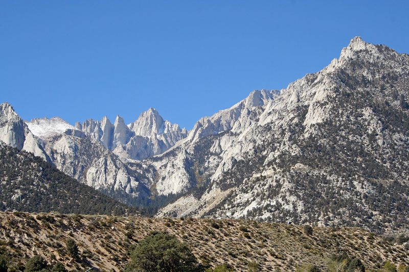 Mt. Whitney from Lone Pine Campground.