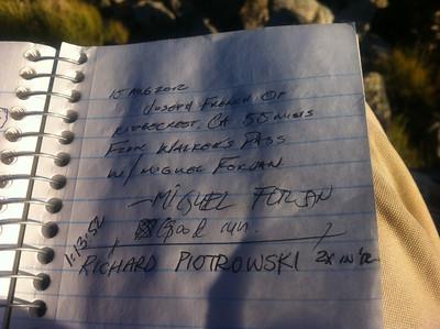 Morris Peak - September 19, 2012