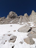 Mt. Whitney from the far side of Iceberg Lake.