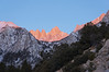 A closer view of the morning alpinglow on Mt. Whitney.