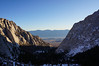 Looking down to the valley from the Mt. Whitney Main Trial.