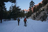 Bob and James walking up Whitney Portal Road. <br /> <br /> About half-an-hour to the Portal at a leisurely pace.