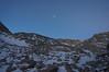 Moon over the Sierra crest.