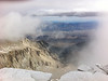 iPhone photo. <br /> <br /> Mt. Whitney summit view towards Lone Pine.