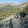 Heading down the Kearsarge Pass Trail.