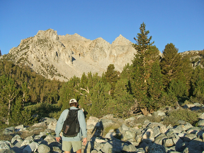 Evan heading up the Kearsarge Pass Trail.