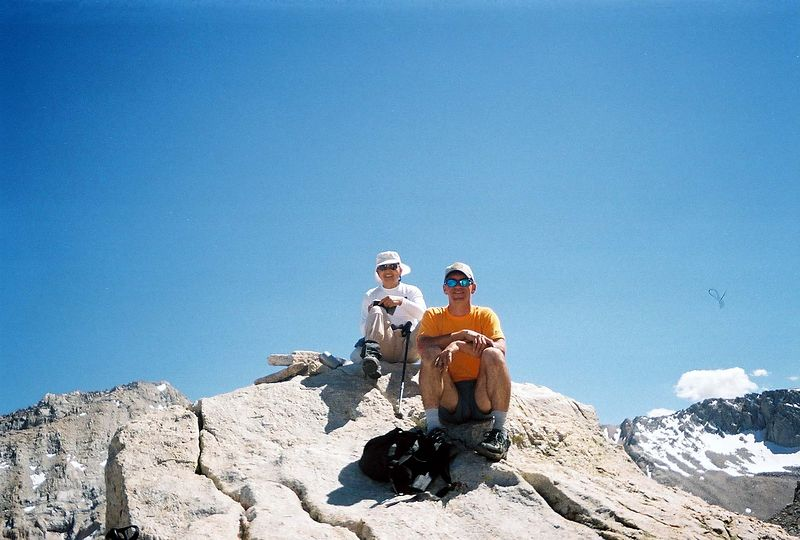 Tom Sakai & Len Lochmiller on the summit of Thor Peak.