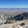 Thor Peak summit view.<br /> <br /> The North Fork of Lone Pine Creek drainage.