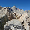 Mt. Whitney from near the summit of Thor Peak.<br /> <br /> 12:08pm. (2:49 to the summit.)