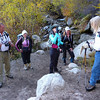 Doug (TrailBud), Ava, Bee, Carole and Doug Sr. at the start of the Mountaineer's Route.