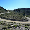 One of the cool switchbacks on White Mountain Road.