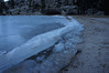 Interesting ice surge on the shoreline of Tenaya Lake.