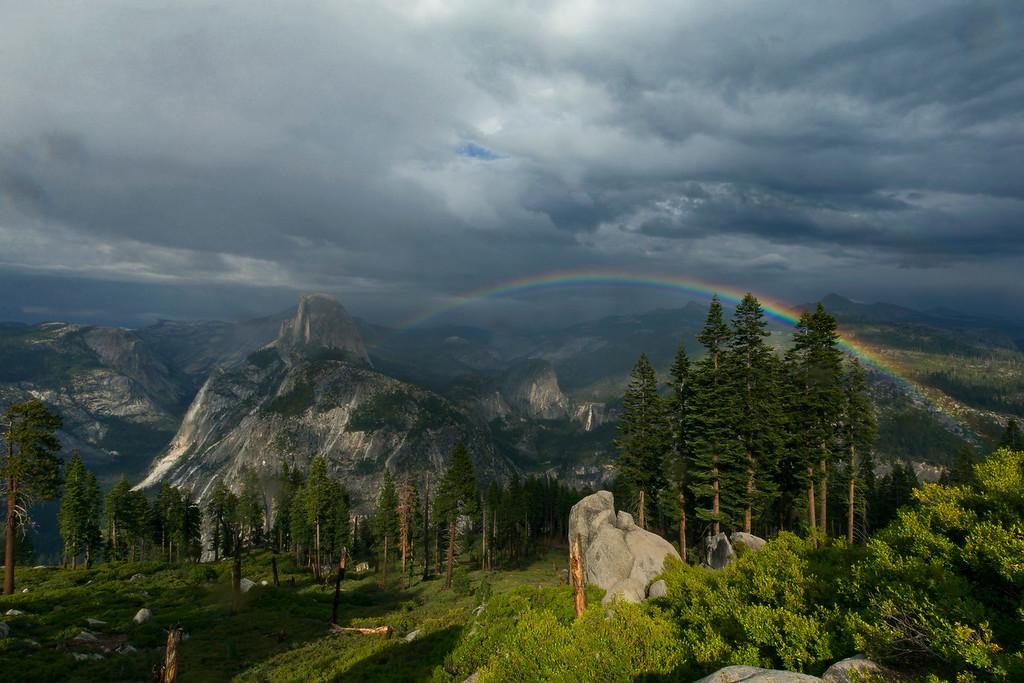 Yosemite Rainbow Sky
