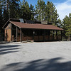 The Mt. Pinos Nordic Center near the trailhead.