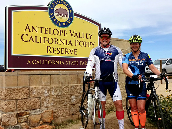 ALC California Poppy Reserve Ride with Different Spokes Club, Palmdale CA April 7, 2019