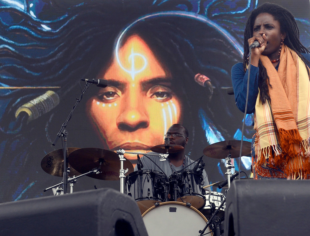 . Jah9 perform at the California Roots Music and Art Festival at the Monterey County Fair and Events Center on Sunday May 28, 2017.  (David Royal - Monterey Herald)