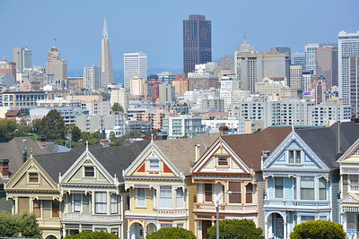 California: San Francisco: Alamo Square Park Houses 2016