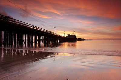 Version #2 from the right side of the pier.  Before sunrise it was completely clear but fortunately some nice clouds moved in to bring color to Christmas morning.  I made another image from the other side of the pier as well.
