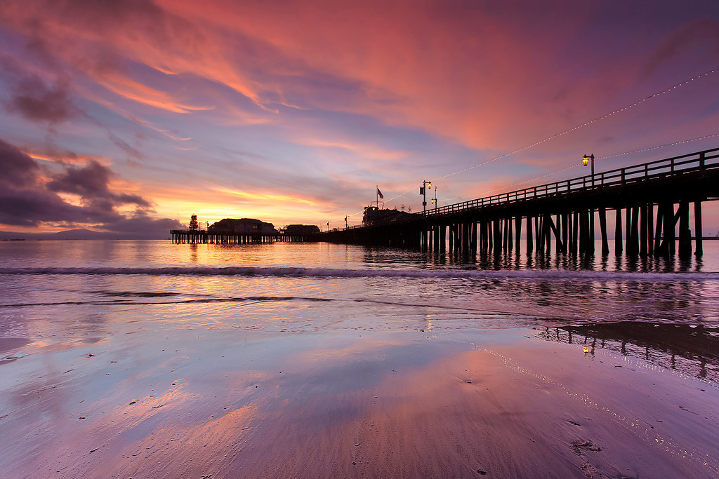 Before sunrise it was completely clear but fortunately some nice clouds moved in to bring color to Christmas morning.  I made another image from the other side of the pier as well.