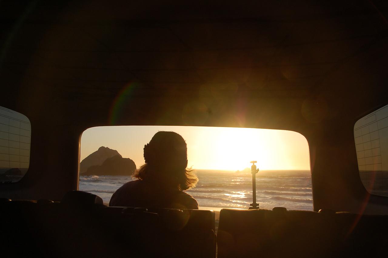 Seeking the sunset on the coast