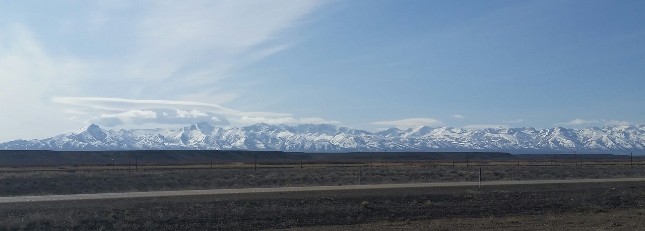 We passed through Salt Lake City, Utah; and approached Nevada on I-80.  Beautiful mountains ran along the south side of the interstate.