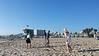 Alex flying kite, Venice Beach