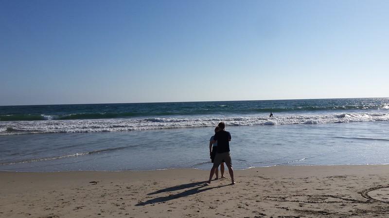 Alex taking picture of Cheri, Venice Beach