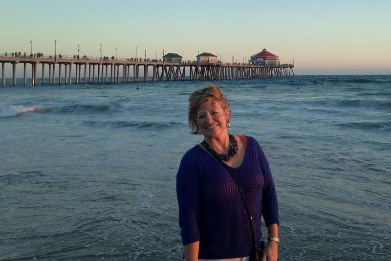 Cheri near HB pier at sunset