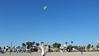 Megan flying kite, Venice Beach