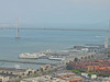 San Francisco Bay & bridge from the top of Coit Tower.
