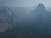 Royal Arches, Mirror Lake, & Half Dome through the smoke
