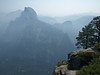 Half Dome, Vernal Falls, & Nevada Falls through the smoke