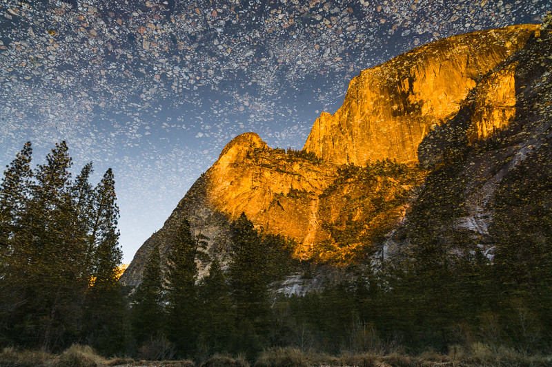 REFLECTION OF HALF DOME - YOSEMITE NATIONAL PARK